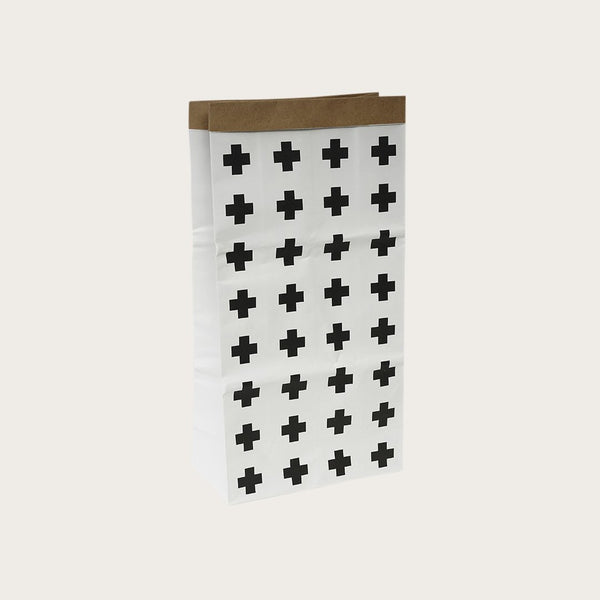 Dana Kraft Paper Storage Bag In Cross Print
