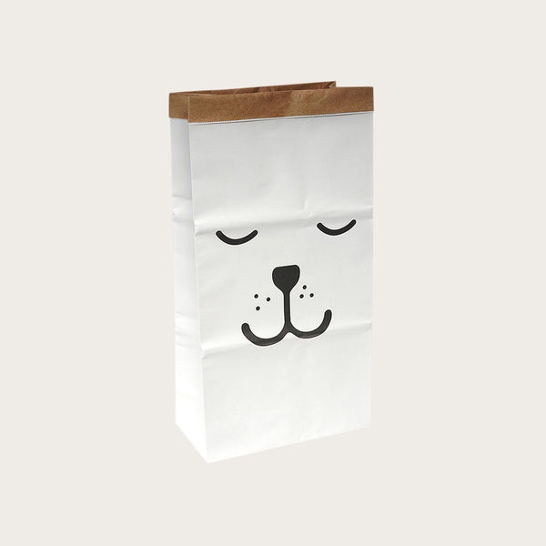 Dana Kraft Paper Storage Bag In Closed Eyes Print