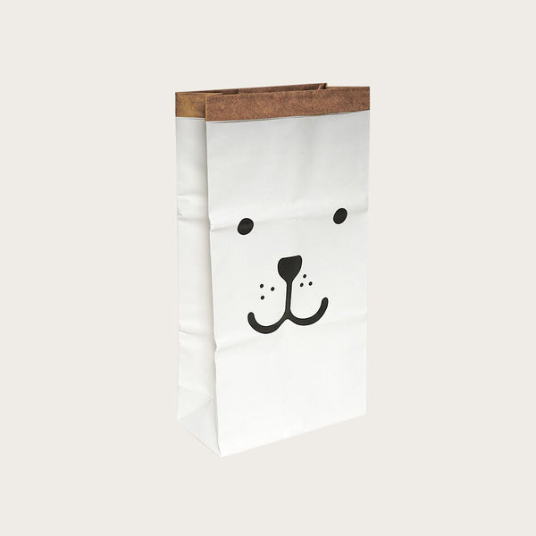 Dana Kraft Paper Storage Bag In Open Eyes Bear Print