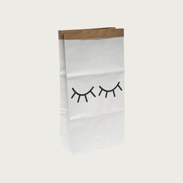 Dana Kraft Paper Storage Bag In Eyelash Print