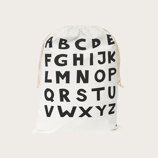 Yara Drawstring Bag In Letter Print