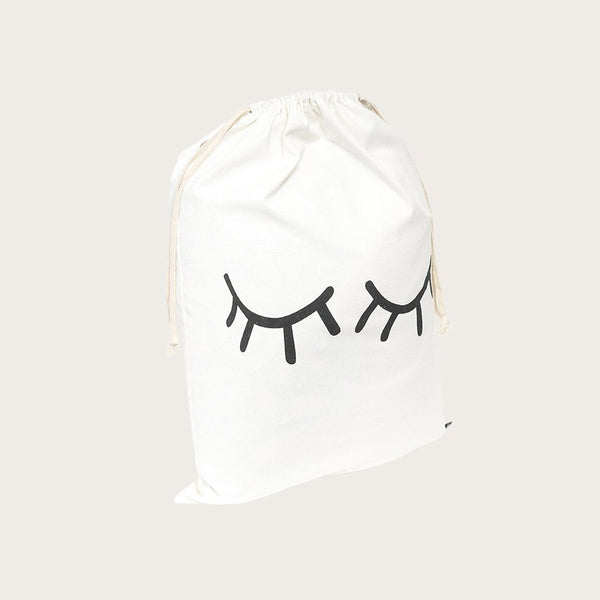 Yara Drawstring Bag In Eyelash Print