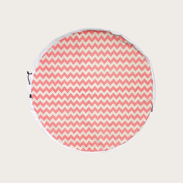 Nova Draw String Play Mat in Chevron Print