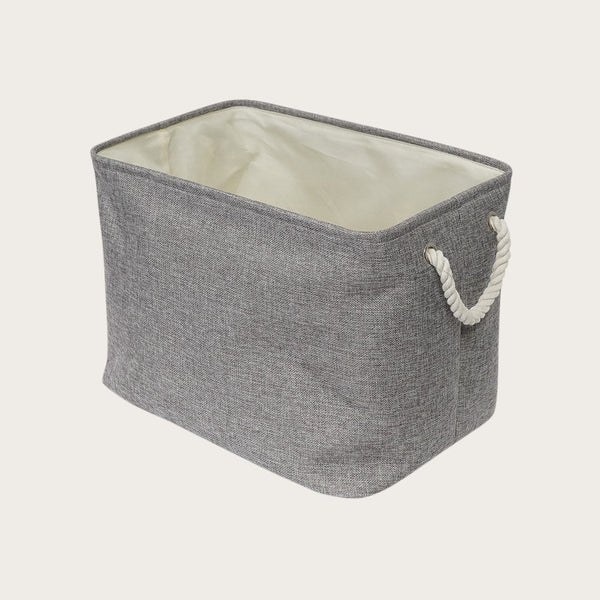 Lila Fabric Storage Basket In Grey