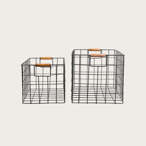 Sefa Set of 2 Wire Baskets