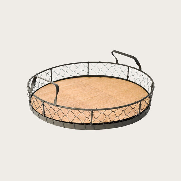 Ashaki Wire and Wood Tray