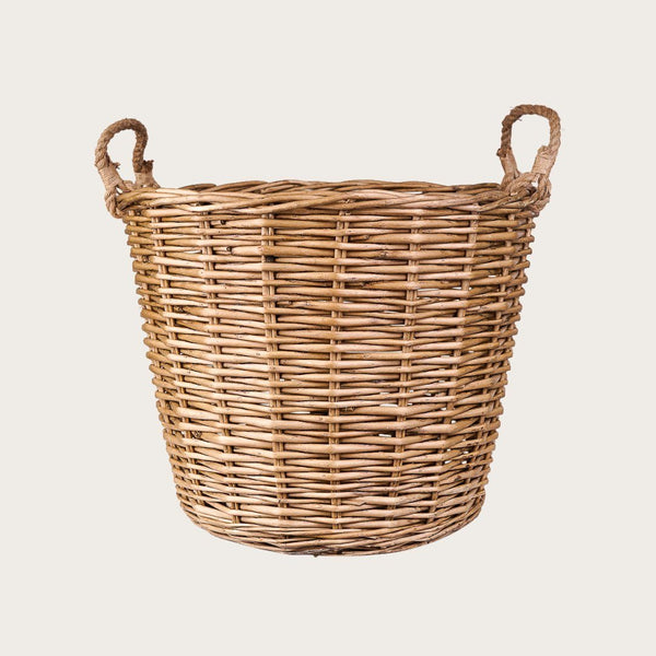 Michele Large Willow Basket with Rope Handles
