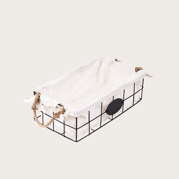 Paola Small Wire Basket with Rope Handles