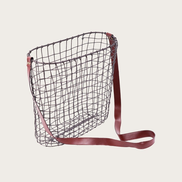 Cristian Large Wire Faux Leather Basket
