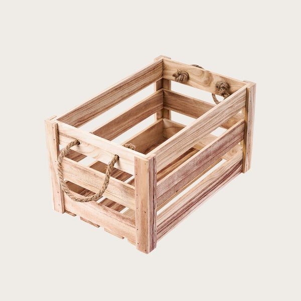 Daniella Medium Crate Storage Box in Natural