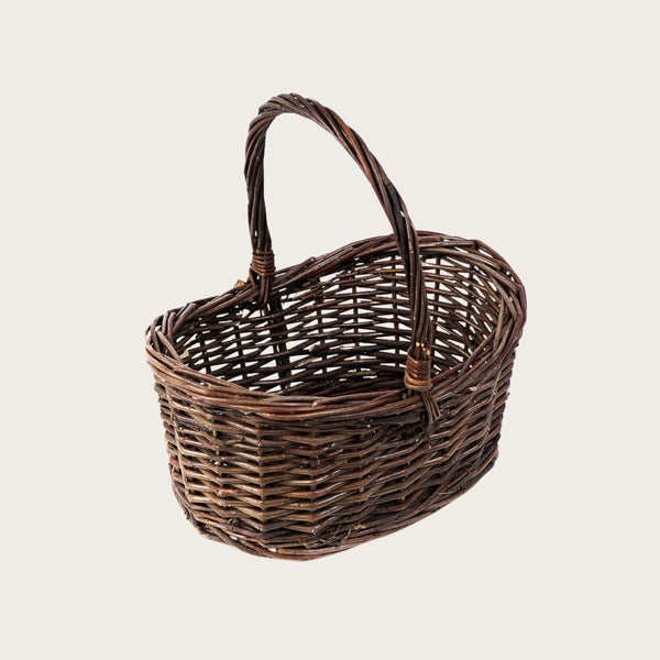 Alessio Small Willow Basket with Handle