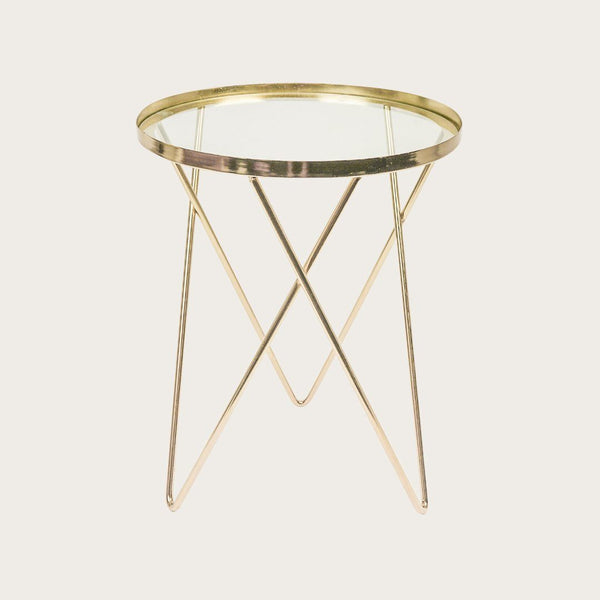 Dupas Gold Metal Side Table