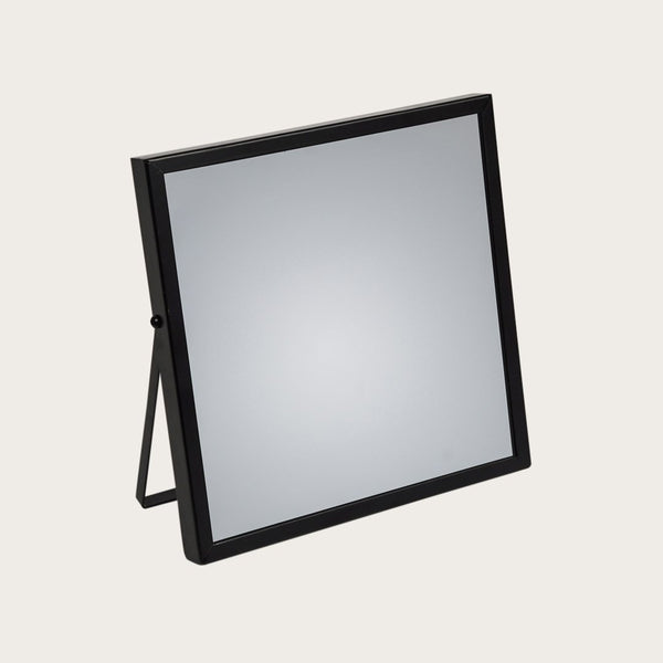 Cramer Square Mirror with Stand in Black