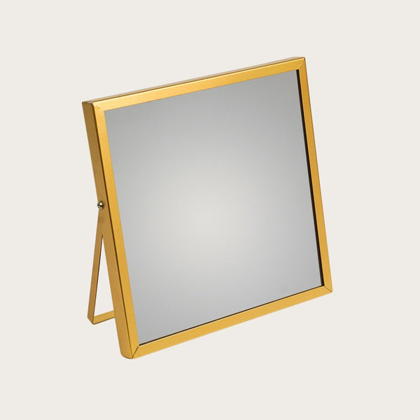 Cramer Square Mirror with Stand in Gold