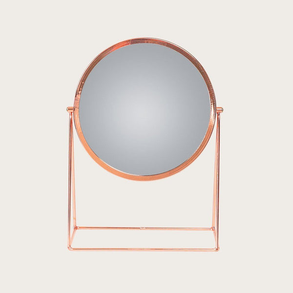 Braque Makeup Mirror with Stand in Rose Gold