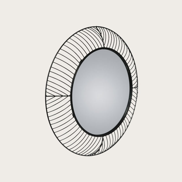 Alberto Wall Mirror in Black