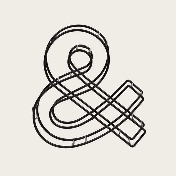 Wire Ampersand in Black