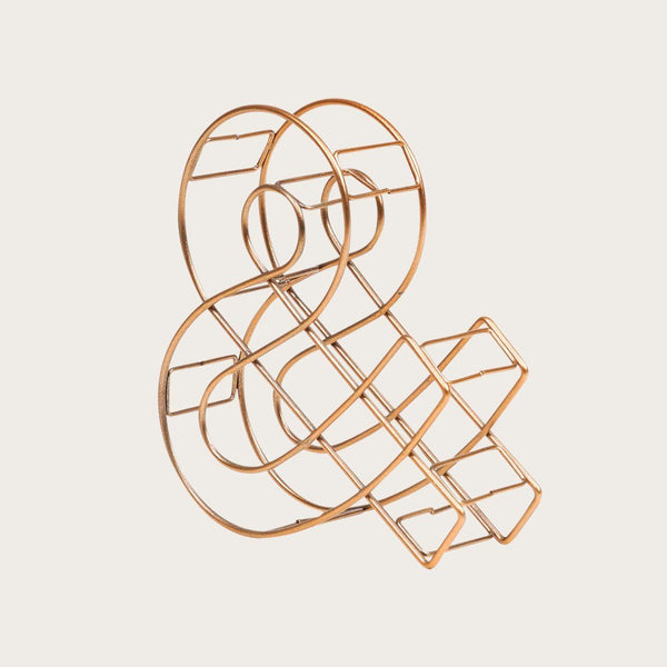 Wire Ampersand in Copper