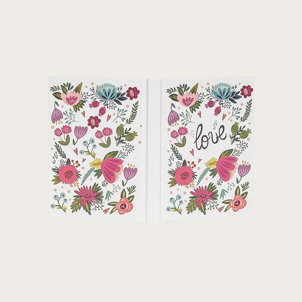Ernest A6 Hardcover Notebook in Rose Garden