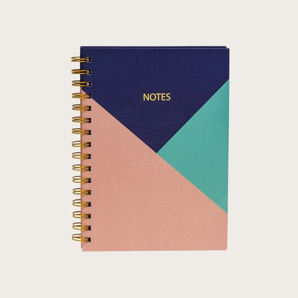 Jules A5 Hardcover Spiral Notebook in Block Colour