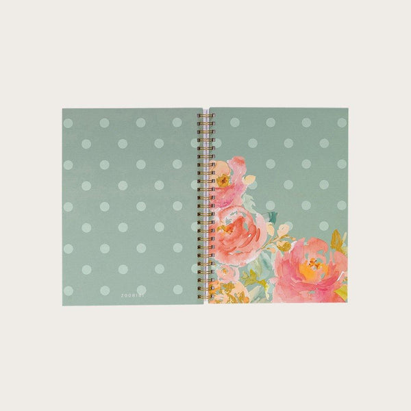 Doyle A4 Hardcover Spiral Notebook in Floral Patters