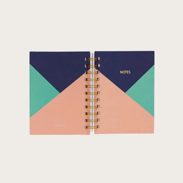 Set of 2 Twain A6 Hardcover Spiral Notebook in Block Colour