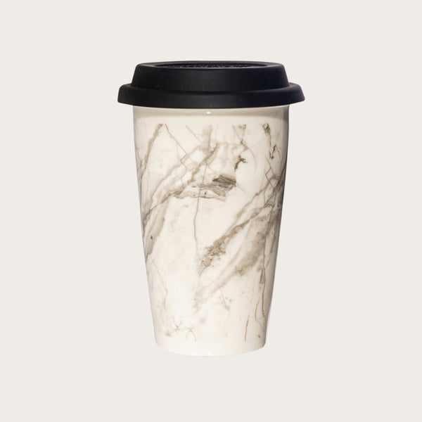 Melissa Ceramic Travel Mug in Marble Print