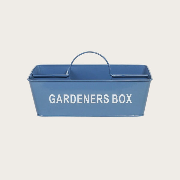Alana Metal Gardeners Box in Deep Blue