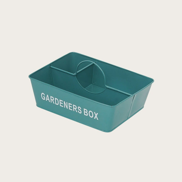 Alana Metal Gardeners Box in Deep Green