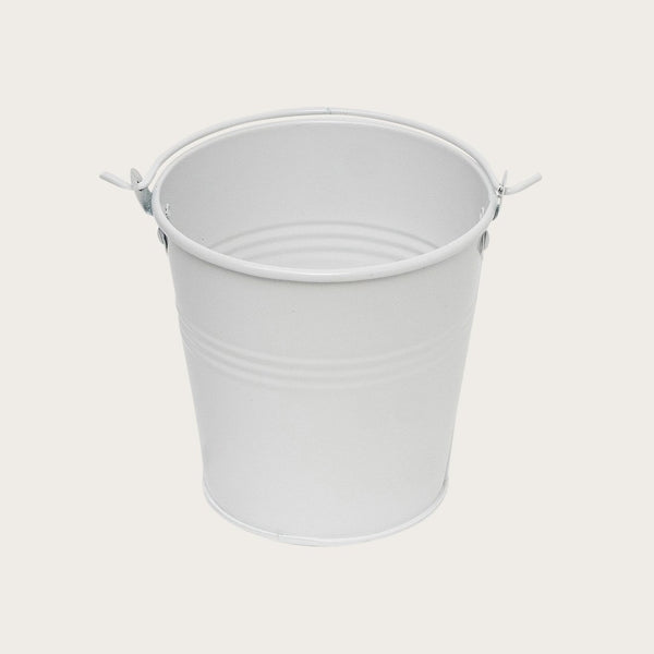 Party Favour Metal Buckets in White