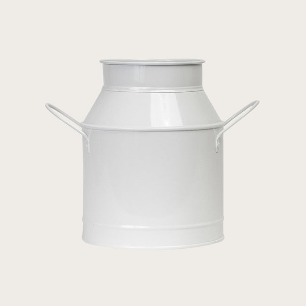 Vaca Metal Jug in White