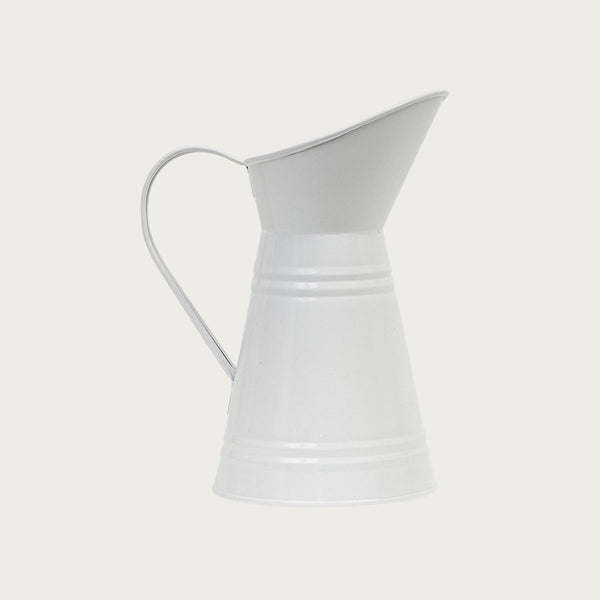 Mara Metal Jug in White