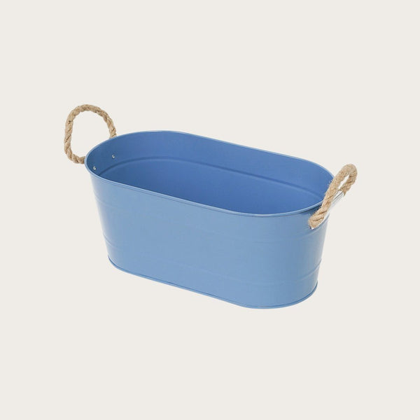 Caroline Metal Flower Pot in Deep Blue