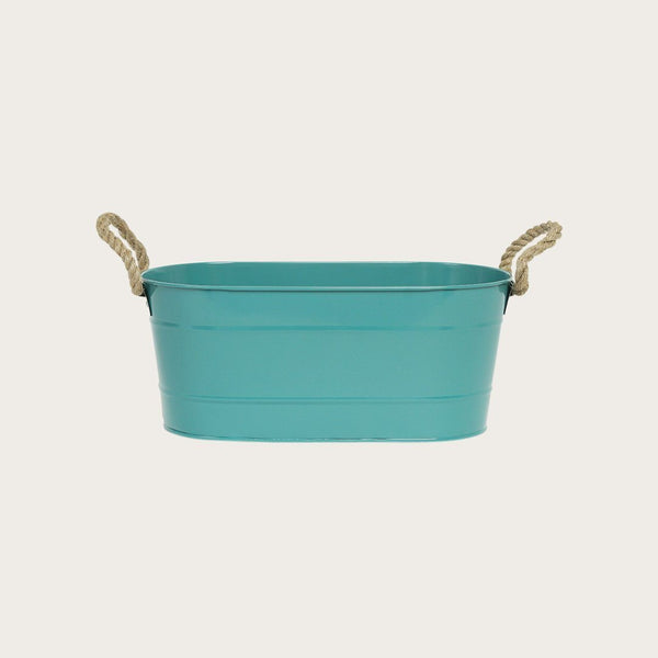 Caroline Metal Flower Pot in Deep Green