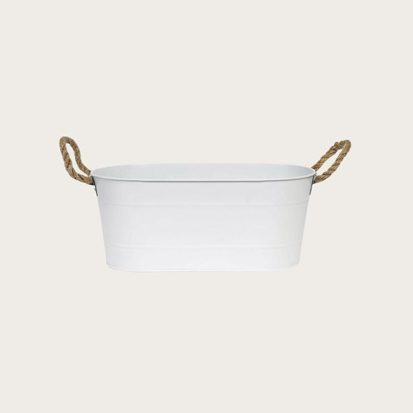Caroline Metal Flower Pot in White