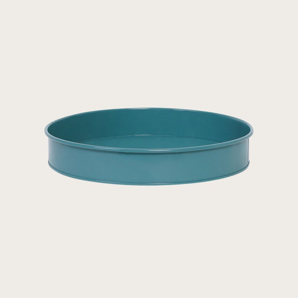 Ida Round Metal Tray in Green