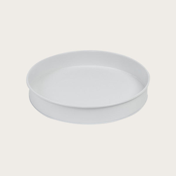 Ida Round Tray in White