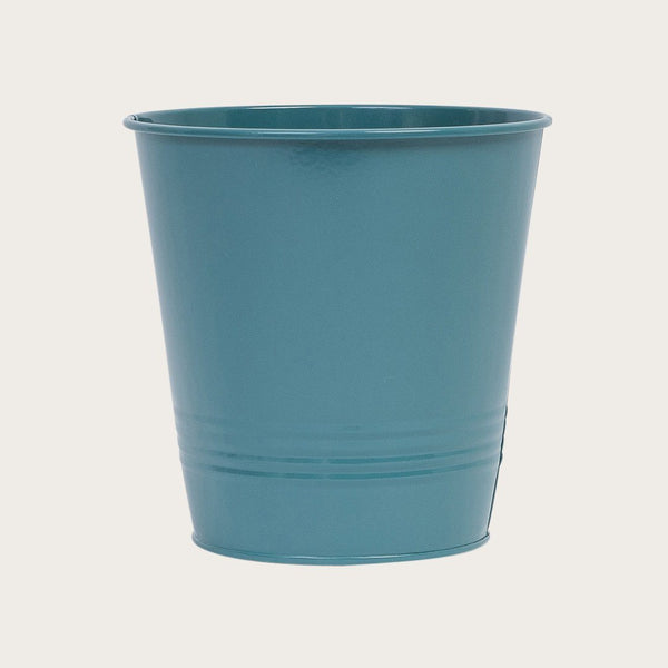 Ganda Round Metal Bucket in Deep Green