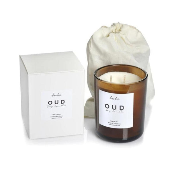 OUD Luxury Soy Candle, 490g - 75Hr