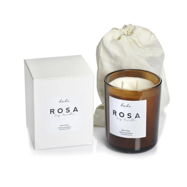 ROSA Luxury Soy Candle, 490g - 75Hr