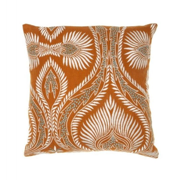 Fresno Cushion - Terracotta/White