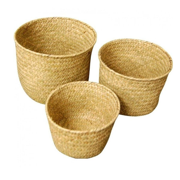 S/3 Woven Tubs in Natural