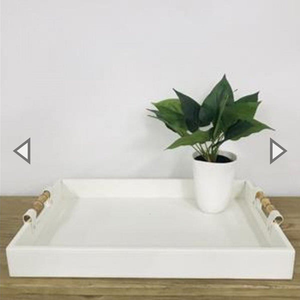 Gracie Tray in White