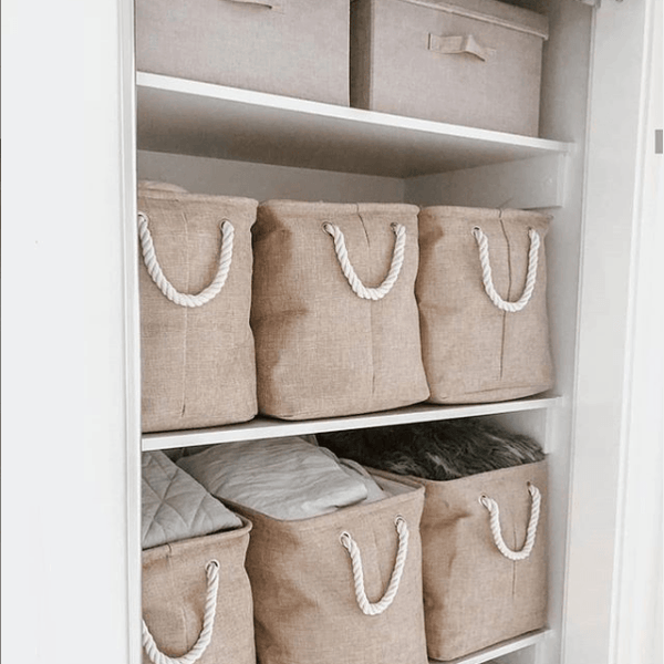 Lila Fabric Storage Basket In Natural