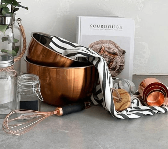 Charles 4.5 Litre Copper Mixing Bowl