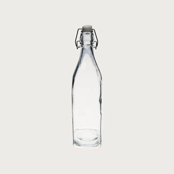 Set of 4 Maynard Large Glass Water Bottles with Clip Lid