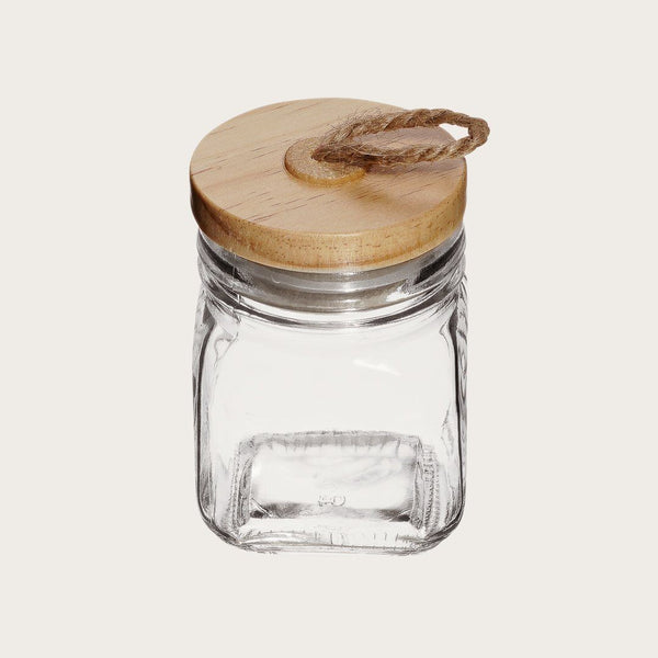 Jasper Square Glass Spice Jar