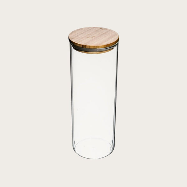 Hilda Extra Large Glass Storage Jar with Wood Lid