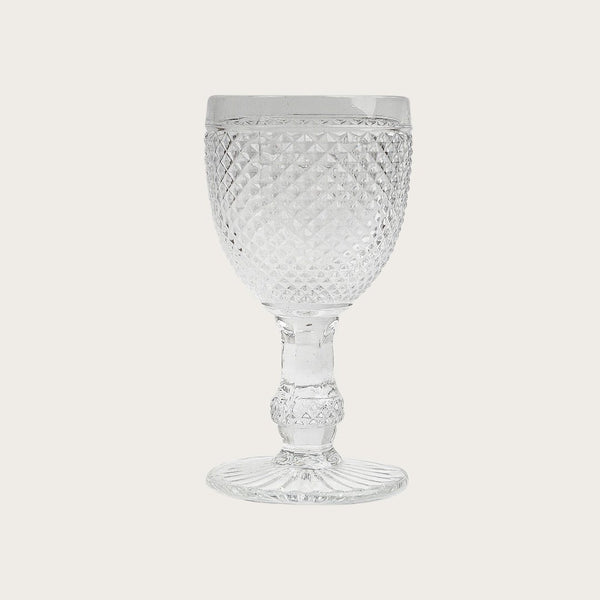 Renaud Goblet Textured Wine Glass in Clear