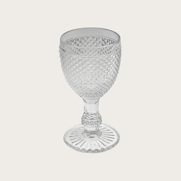 Renaud Goblets Textured Wine Glass in Clear (Set of 4)